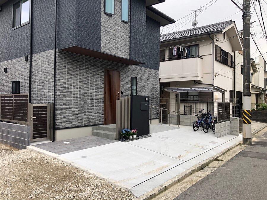 広島市のお客様新築外構工事
